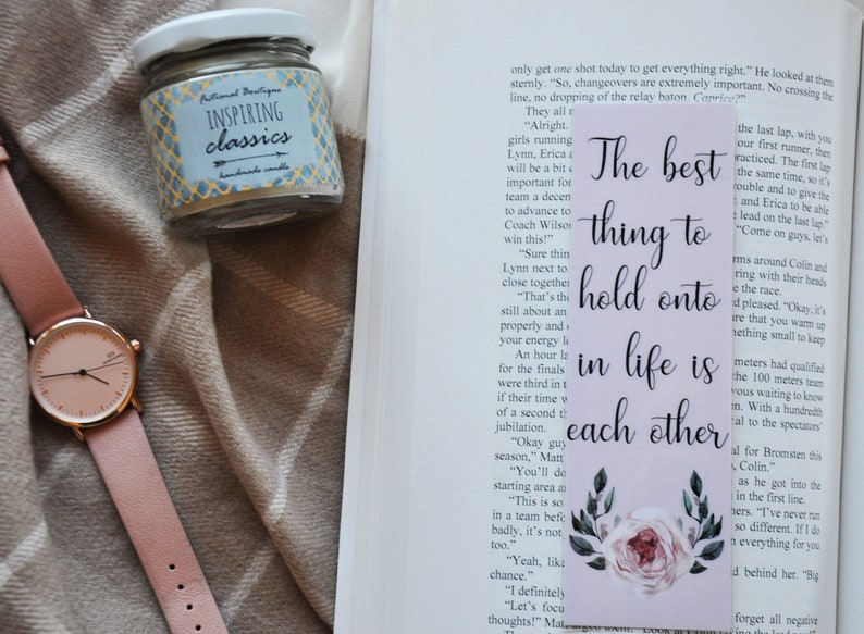 The Best Thing Bookmark, Bookstagram, Bookmark, Literary Bookmark, Bookish,  Bookish Gift, Book Lovers Gift Book Bloggers, Laminated Bookmark