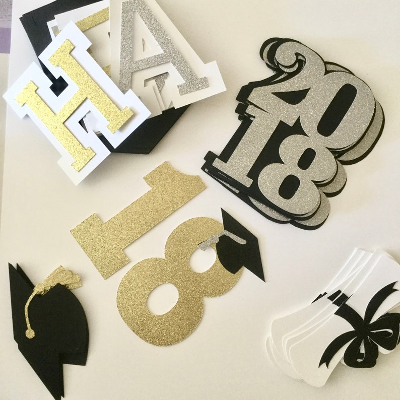 Diploma Grad Cap Centerpieces 2020 Prom 2020 Graduation party decorations 2020 Class of /'20 Graduation Party Decor Glitter