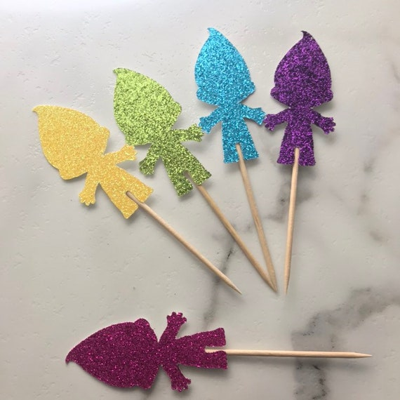 trolls party decoration 12 sets Trolls wizard cupcake wrappers and toppers