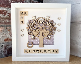 Wedding Gift. Unique Wedding Gift For Couples. Engraved Names. Mr   Mrs Wedding  Anniversary Gift. Handmade Keepsake 04aaaddd19