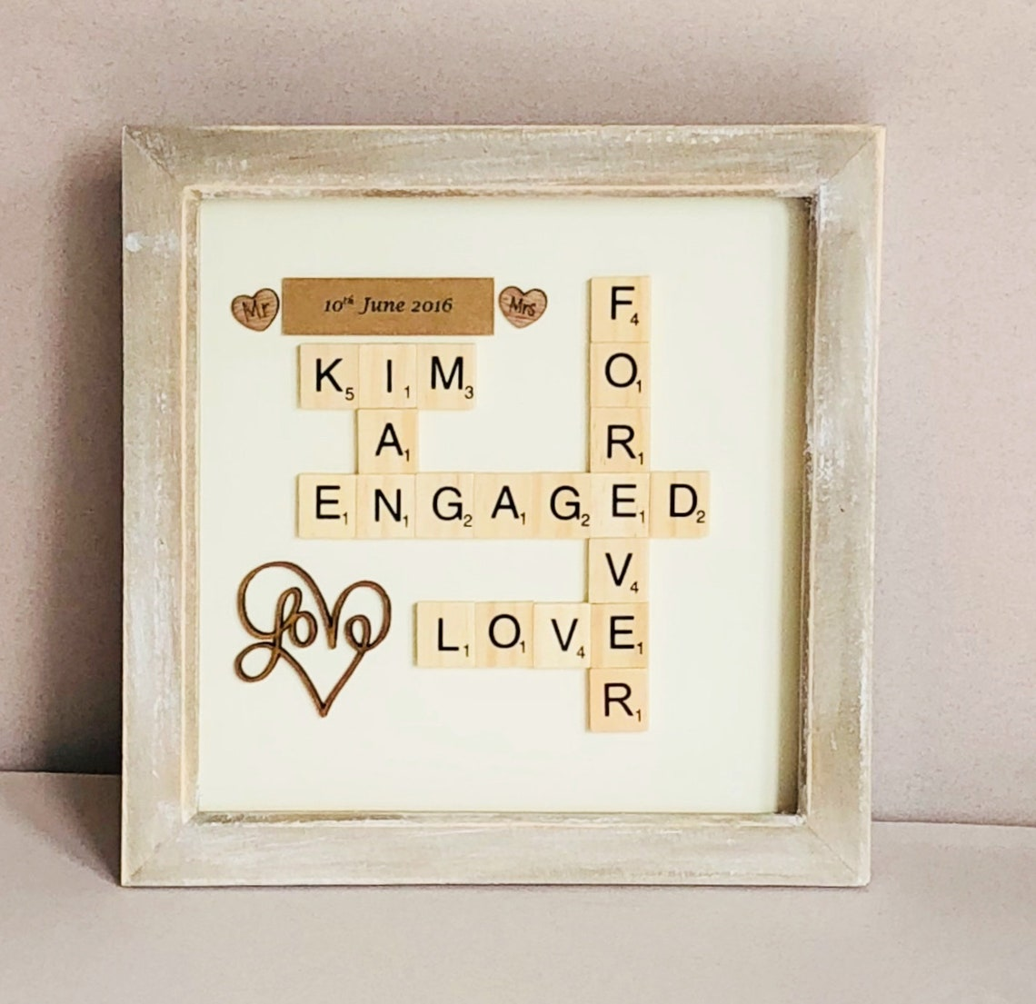 Personalised Scrabble Box Frame