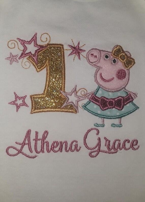 Peppa Pig Birthday Shirt Girl Long Or Short Sleeve Etsy