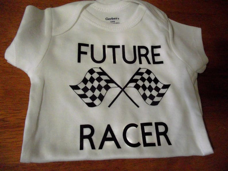 Baby shower gift Future racer onesie Welcome home gift Baby of a racer gift.