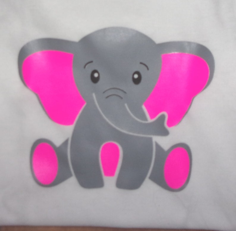 Choice of blue or pink elephant  onesie Free US shipping welcome baby gift Personalized gift jumpsuit.Baby shower gift