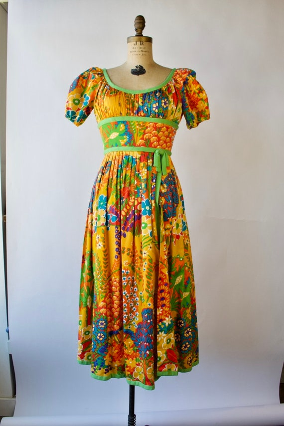Vintage 1960s Chester Weinberg Day Dress 27 inch … - image 2