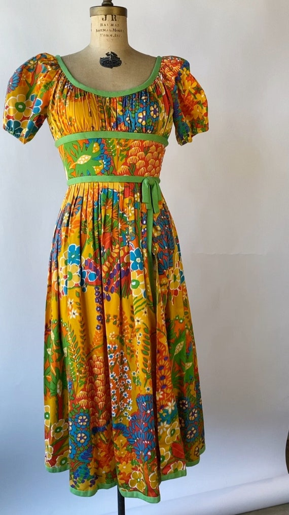 Vintage 1960s Chester Weinberg Day Dress 27 inch … - image 3