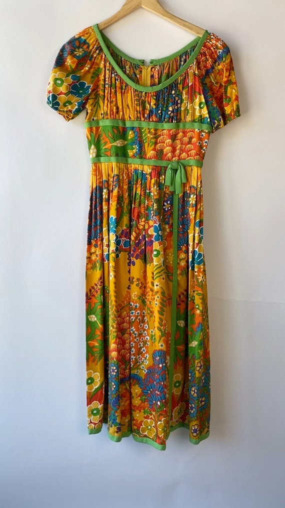 Vintage 1960s Chester Weinberg Day Dress 27 inch … - image 5