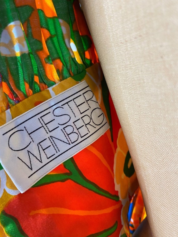 Vintage 1960s Chester Weinberg Day Dress 27 inch … - image 4