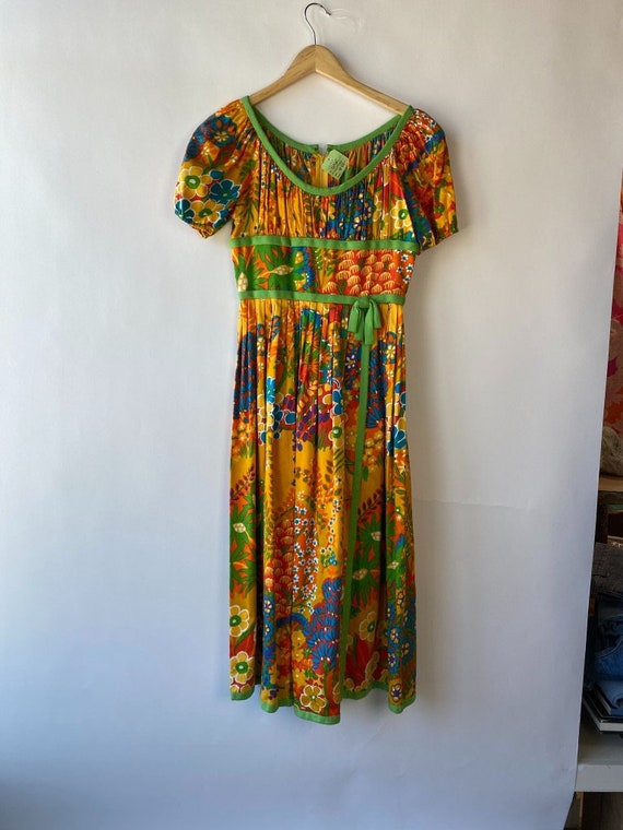 Vintage 1960s Chester Weinberg Day Dress 27 inch … - image 6