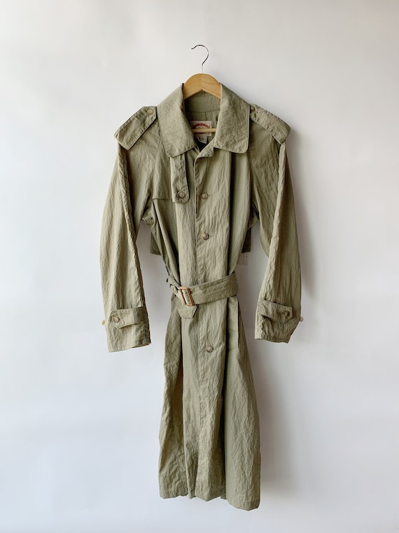 Vintage 80s Banana Republic Trench Coat size M / V