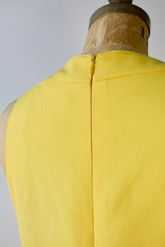 1980s Modernist Dress by Montana Bright Yellow Si… - image 4