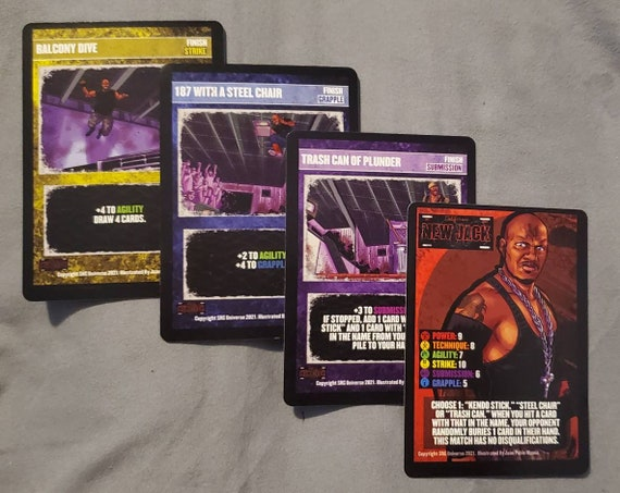 New Jack, Supershow the Game cards, set of 4