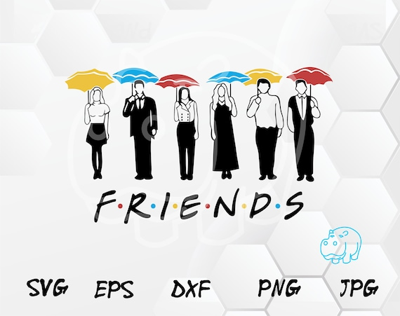 Friends Tv Show Svg File Friends Umbrellas Svg Vinyl Cut File Friends Show Svg Friends Couch Friends Silhouette Decal Cut File Dxf