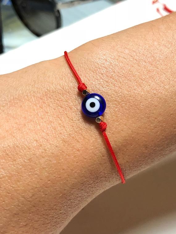 Talisman jewelry Lucky Eye Evil Eye Bracelet StarCreativeMiami Handmade red string Red String Bracelet Nazar Protection