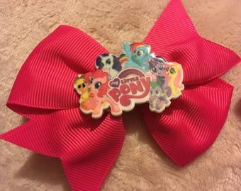 My little pony hair bow clip