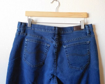 ef4be6d2 Jeans Waist 36 Lee Vintage 1990s 90s High waisted Straight Relaxed Leg  Stretch Denim High rise Short Ankle