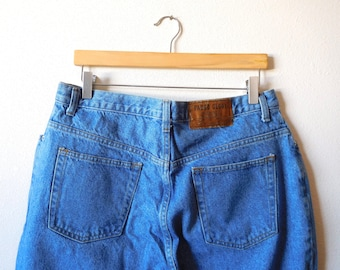 9cce30c9 Waist 34 Faded Glory Vintage 1990s 90s Mom jeans High waisted High rise  Cotton Classic Iconic Blue Denim Tapered leg Tapered Ankle