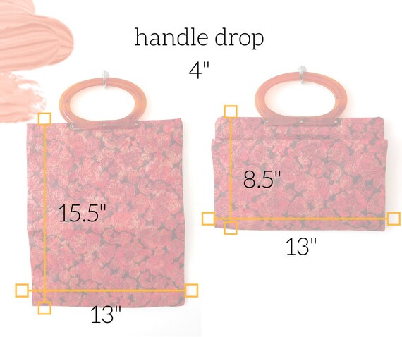 Lucite Handle Convertible Bag Vintage 1960s 60s C… - image 2