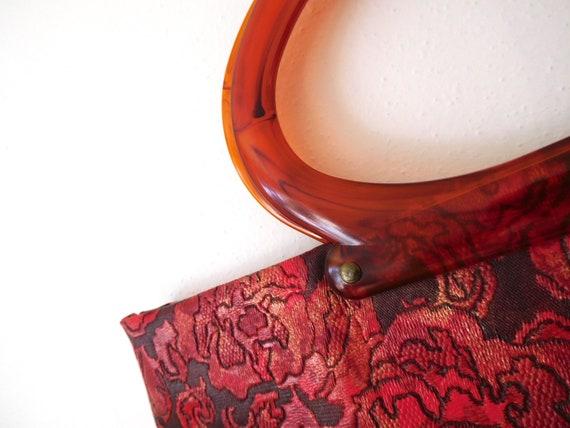 Lucite Handle Convertible Bag Vintage 1960s 60s C… - image 4