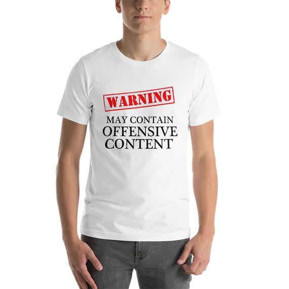Warning Im Not Listening T-SHIRT Rude Offensive Joke Humor Gift birthday funny