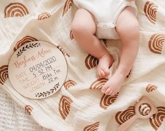 Engraved Birth Stats Sign | Newborn Announcement | Baby Announcement | Birth Announcement | Newborn Keepsake | Newborn Gift