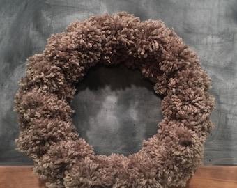 Hand made Pom Pom wreath