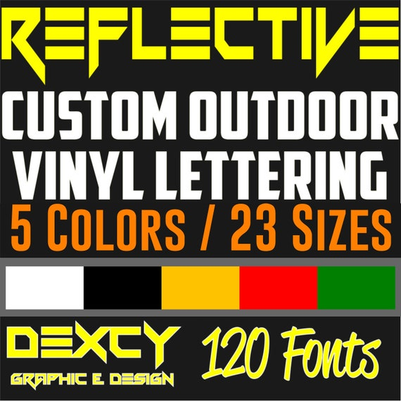 Custom Reflective Vinyl Decal Stickers Lettering  Custom Vinyl Letters  Numbers  Reflective Vinyl Lettering Car Boat Sign Window Door