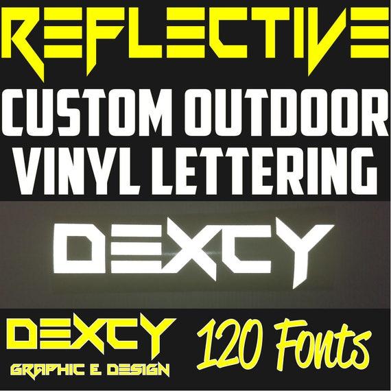 Custom Vinyl Lettrage Outdoor Decal Autocollant Voiture Camion Bateau texte personnalisé