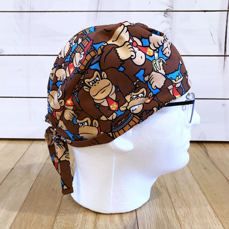 big sale 8f2a6 54482 ... promo code for mens monkey scrub cap scrub hat surgical scrub cap etsy  9bc27 dd8ed
