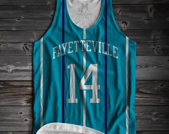 J Cole inspired jersey style tank top.