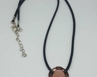 Copper charm necklace