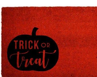Trick or Treat Door Mat