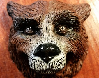 Painted Grizzly Bear Magnet