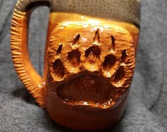 Grizzly Bear Paw Print Coffee Mug