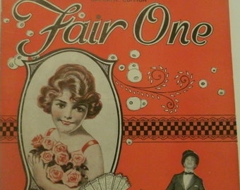 Fair One, sheet music by Ted Lewis, George Mallen, 1920, good shape, Vintage