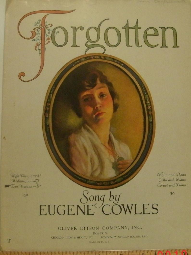Forgotten sheet music by Eugene Cowles Flora Wulschner Girl/Medium F