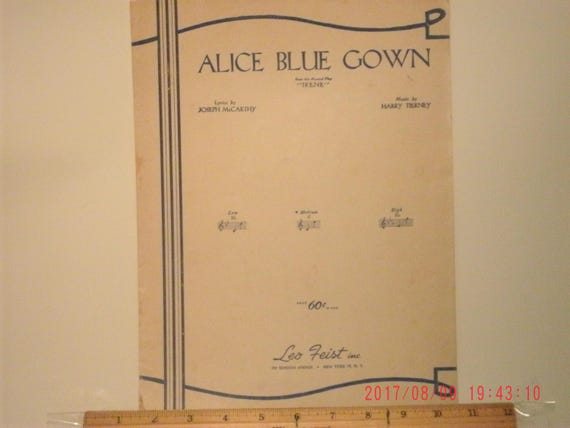 Alice Blue Gown Sheet Music by Joseph McCarthy and Harry | Etsy