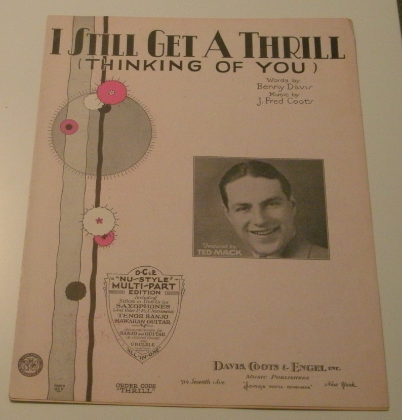 I Still Get A Thrill Thinking Of You sheet music by Benny image 0