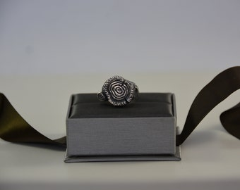 Silver Tree Stump Ring | Handmade