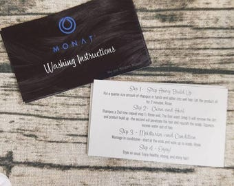 Monat business cards etsy in stock now printed 2 sided monat washing instruction cards colourmoves