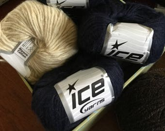 Ice Yarn Alpaca Cotton Yarn Alpaca Yarn Cotton Yarn Destash Yarn