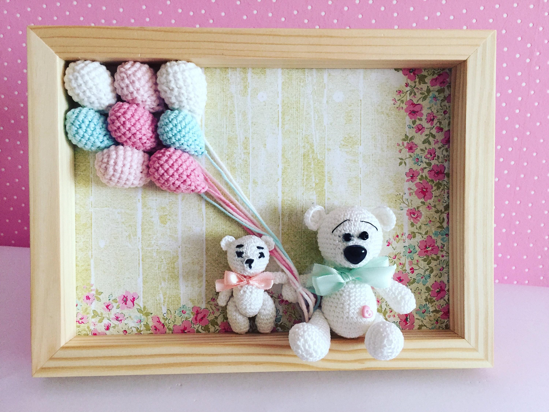 Crochet cuadro marco marco guardería niños habitación   Etsy