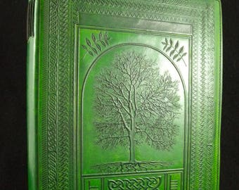A4 Celtic Druid Ash Tree - Handmade Leather Sketchbook Journal Diary Guest-Book – US Letter Size