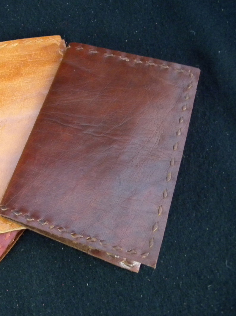 HIDEOUSLY NATURAL A6 Handmade Refillable Leather Journal Please Don/'t Buy!