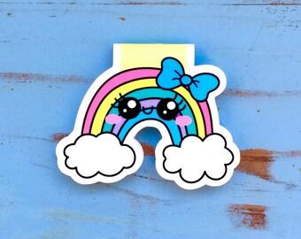 Rainbow Doodle Magnetic Bookmark!