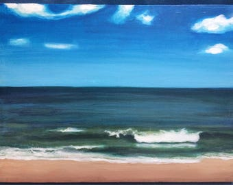 Rehoboth Beach original acrylic painting