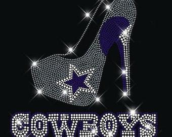807f8d412 ... free shipping dallas cowboys heel rhinestone transfer t shirt 7bcfc  3fd09