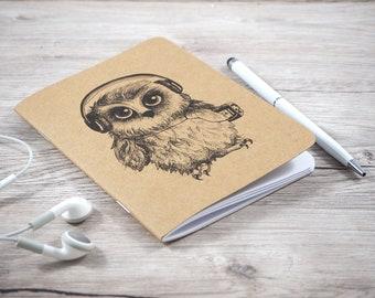 Owl notebook - Walkman owl