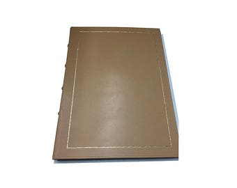 Personalized leather guest book for events