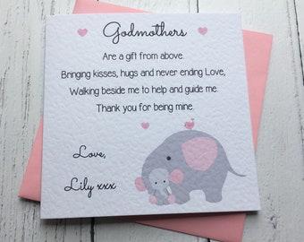 Godparents Card Etsy
